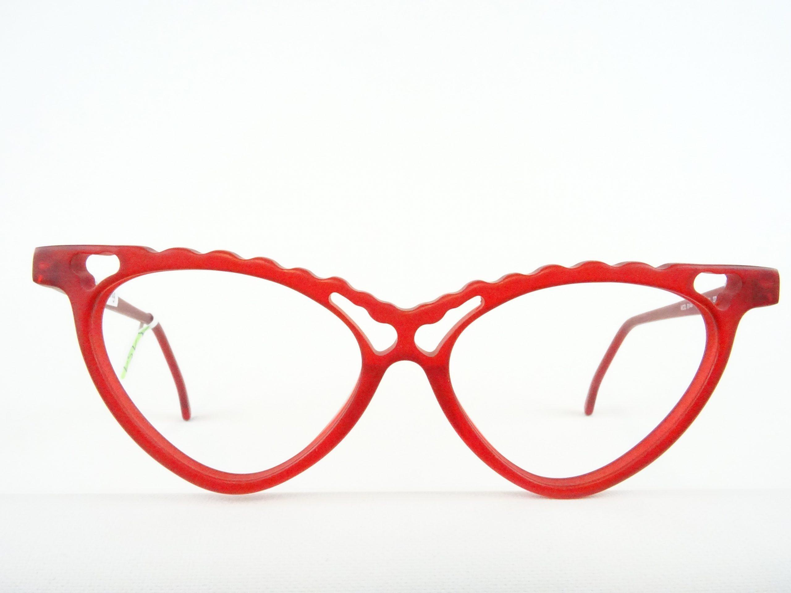 Rote Damenbrille Mit Aussergewohnlicher Cateyeform Crazy Design Seltene Damenbrille Gr M Vintage Brillen Welt