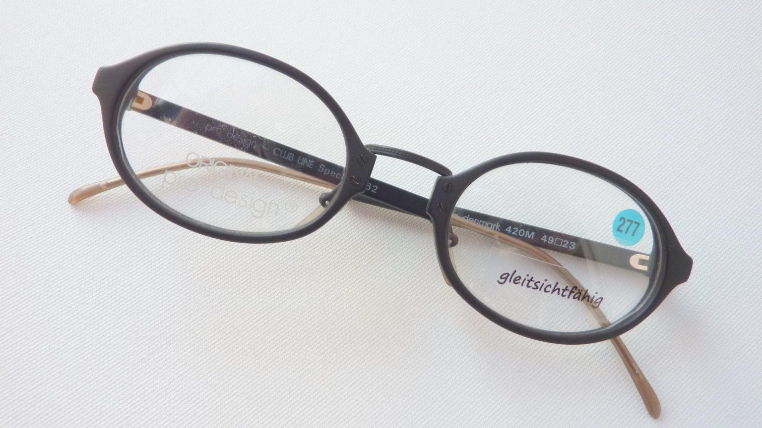 Pro Design schwarze Brillen Fassung Kunststoff matte Farbe